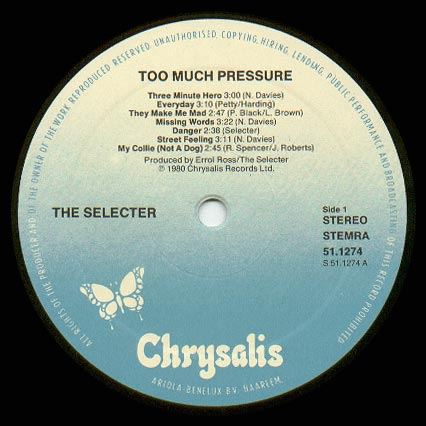 Selecter On My Radio Too Much Pressure