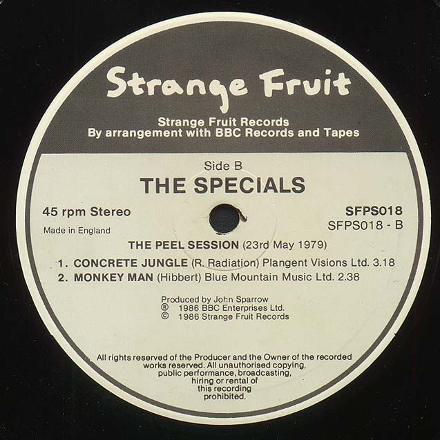 <a href='/the-specials/'>The Specials</a> Peel Sessions